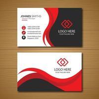 modèle de carte de visite entreprise rouge et noir avec blanc