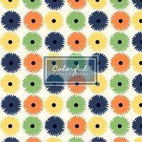 conception de motifs de fleurs rétro colorées
