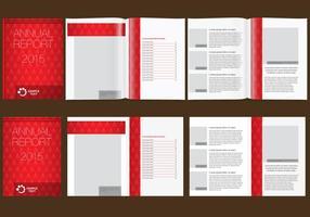 Rapport annuel rouge vecteur