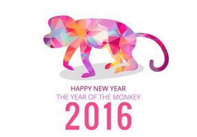 2016 année de singe vecteur