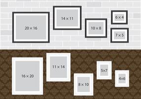 Murs de collage photo vecteur