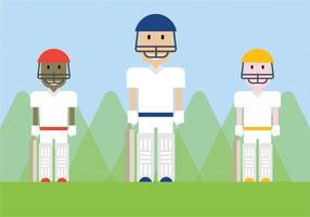 Vecteur libre de joueurs de cricket