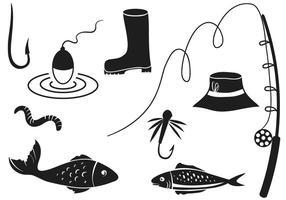 Vecteurs de pêche gratuits vecteur