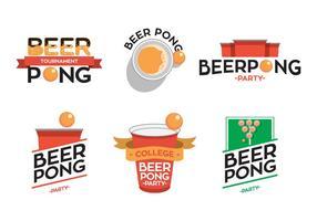 Vecteur typo beer pong