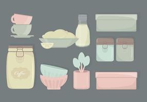 Éléments vectoriels de cuisine vecteur
