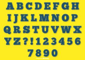 Ensemble Alphabet Blue Stitch vecteur