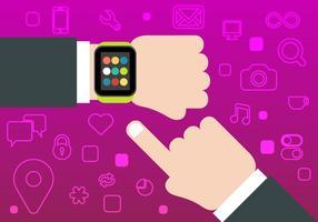 Vecteur de montre intelligent gratuit