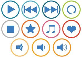 Vecteurs d'icônes de musique gratuits vecteur