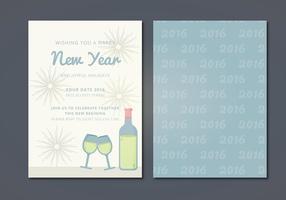 Carte Vector Nouvel An