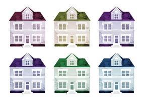 Maisons à vecteur aquarelle