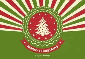 Rétro style sunburst christmas illustration