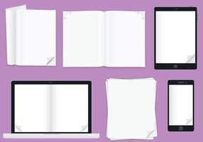 Flip pages vecteur