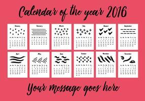 Fond d'écran du calendrier 2016 gratuit vecteur