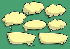 Vecteurs de bulles de discours vecteur