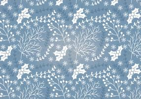 Winter Holly Vector Seamless Pattern