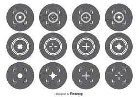 Ensemble d'icônes du viseur vecteur