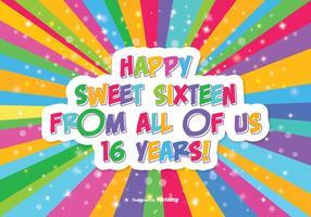 Happy sweet 16 illustration vecteur
