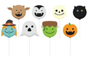 Pops de halloween vecteur