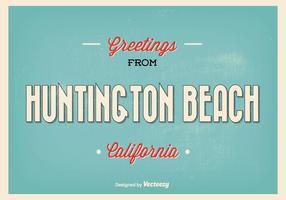 Illustration de salut rétros de la plage de Huntington vecteur