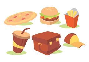 Ensemble vectoriel de livraison de nourriture