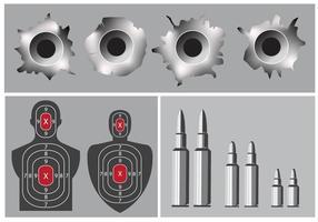 Camp de tir et trou de balle vecteur