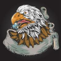 conception de défilement tête d'aigle vecteur