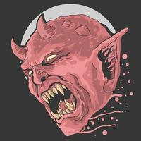 conception de cri de tête de diable