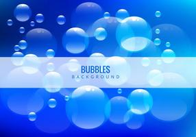 Bulles d'eau sur fond bleu vecteur