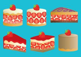 sablés aux fraises vecteur