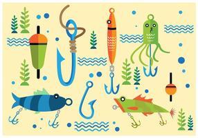 Vecteur de crochet de poisson