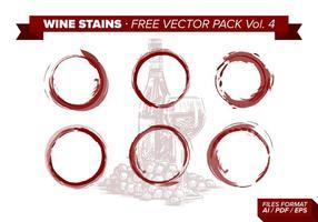 Pack de vecteur libre de taches de vin Vol. 4