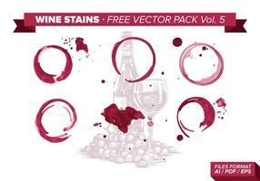 Pack de vecteur libre de taches de vin Vol. 5