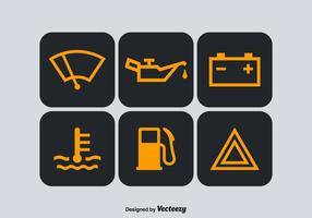 Symboles vectoriels gratuits de tableau de bord de voiture