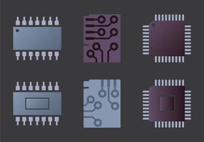 Illustration vectorielle Microchip gratuite vecteur