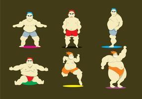 Vecteurs athlètes du corps
