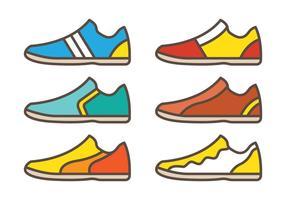 Chaussures de futsal vecteur
