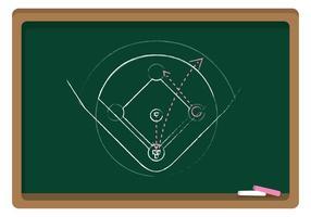 Vector Chalkboard Baseball Diamond