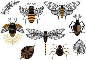 Vecteurs d'insectes gratuits vecteur