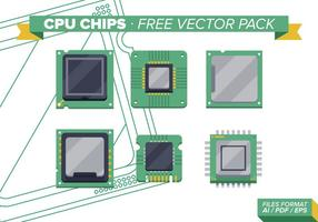 Puces cpu pack vecteur gratuit vol. 2
