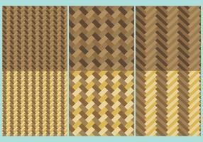 Textures en bois de chevrons vecteur