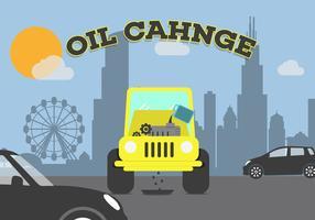 Vecteur de changement d'huile