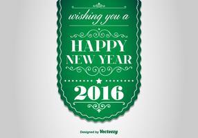 Bonne année, étiquette 2016 vecteur