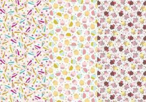 Patterns d'illustrateurs de cupcakes et de cônes