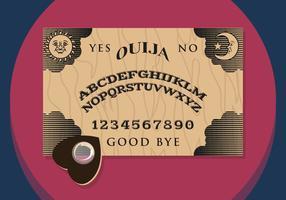Ouija illustration vectorial vecteur