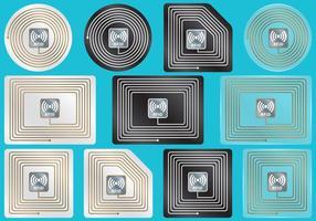 Étiquettes RFID vecteur