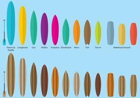 Vecteurs de surf board