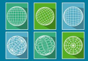 Vecteurs de grille de globe