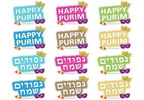 Titres de Purim vecteur