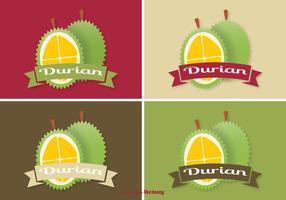 Ensemble d'étiquettes Durian