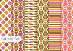 Design de motif rétro coloré vecteur